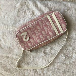 "Pink & white ""girly"" Dior purse"